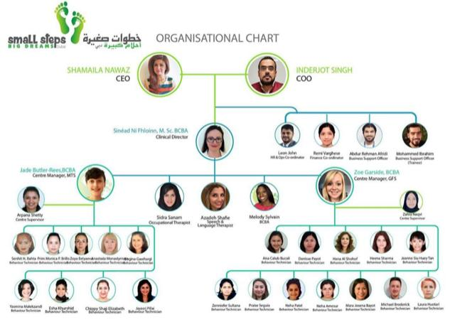 smart steps organisational chart